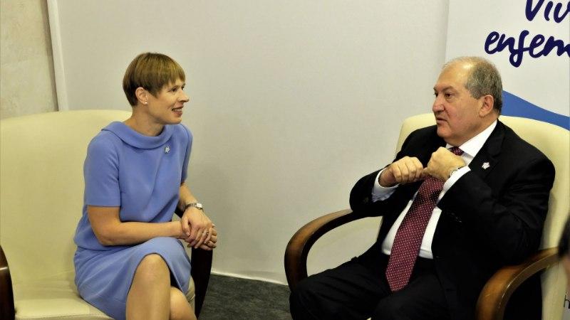 FOTOD | President Kaljulaid kohtus Jerevanis oma Armeenia kolleegiga