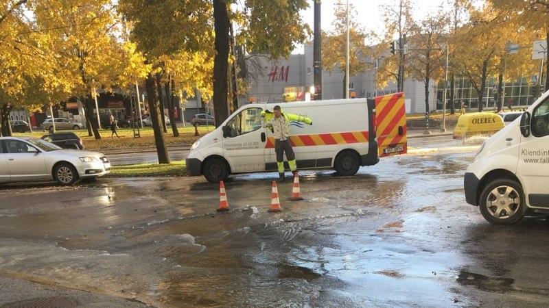 VIDEO | Tehnika tänava veeavarii on jõudnud ka Madara tänavale