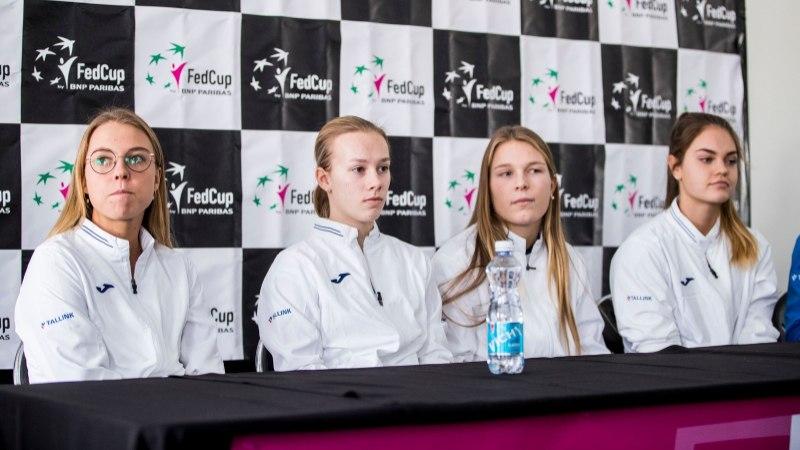Eesti tennisenaiskond peab FedCupil madistama tugevate slaavlannade vastu