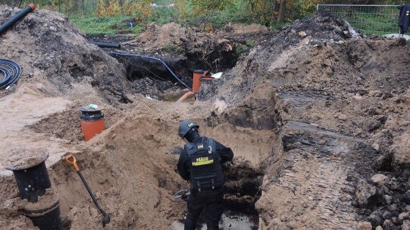 FOTOD | Tartu kesklinna lähedaselt ehitusobjektilt leiti viies miin