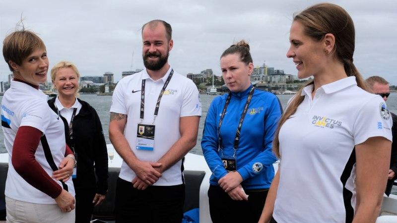 President Kaljulaid Võitmatute Mängudel: olen Eestit esindava meeskonna üle uhke