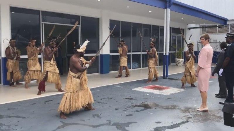 VIDEO | Kaljulaid sai Vanuatu töövisiidil omapärase tervitustseremoonia