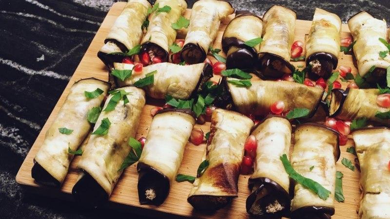 BLOGI | Kreeka pähkli kreemiga baklažaanirullid