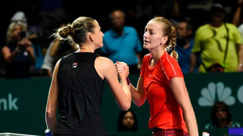 Pliškova alistas Kvitova ja jõudis WTA finaalturniiril esimesena poolfinaali