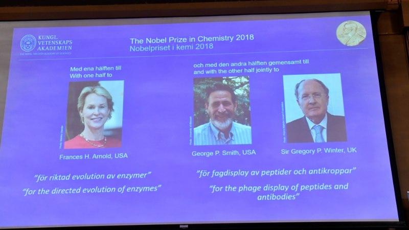 Nobeli keemiaauhinna pälvisid evolutsiooni edendamisele panuse andnud teadlased