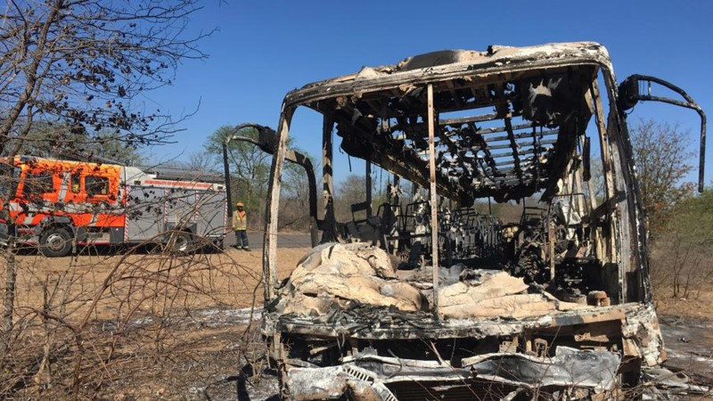 В загоревшемся автобусе погибли 42 человека