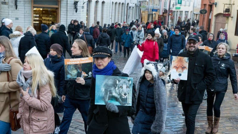 GALERII | Tallinna vanalinnas marsiti loomade kaitseks