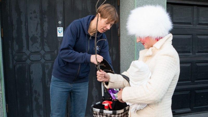 ÕL VIDEO JA GALERII | Õhtulehe kadrisandid käisid Kersti Kaljulaidi ja Marju Läniku ukse taga santimas