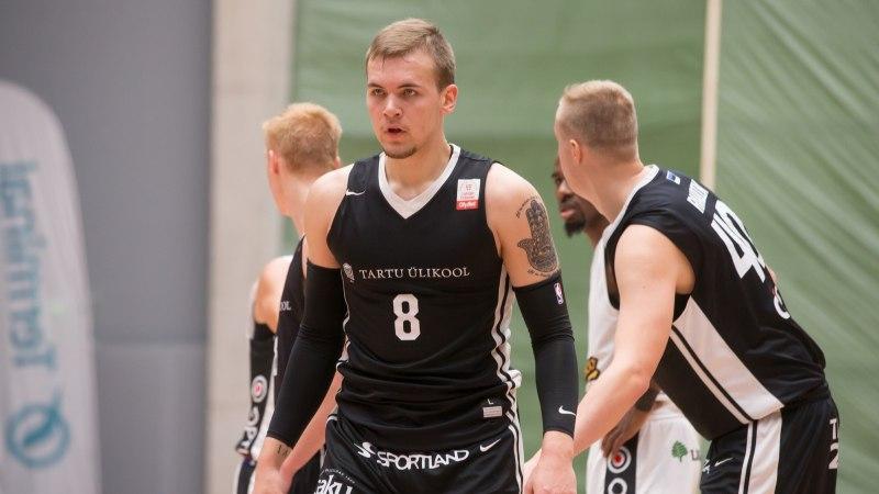 Tartu korvpallimeeskond oli lähedal valitseva Läti meistri šokeerimisele