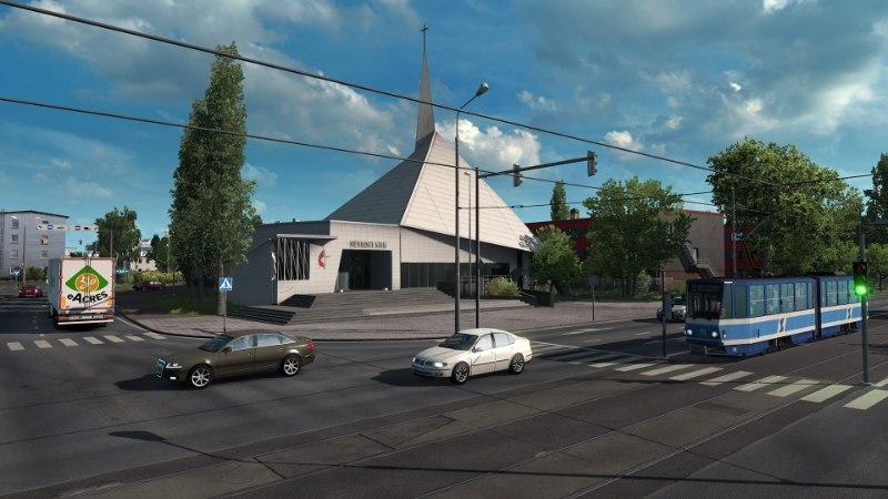 """""""Euro Truck Simulator 2"""" uus lisapakk lubab mängijal juba täna Tallinna-Tartu maanteed vallutada"""