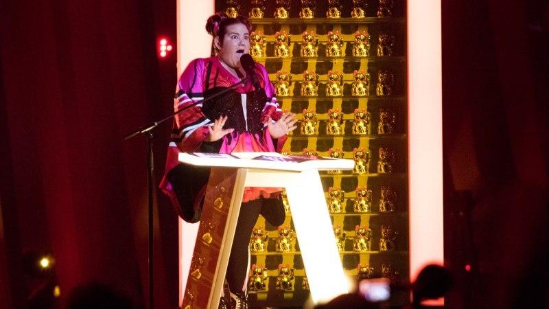 FOTO | Vinge! Indrek Galetin sai kaamerasilma ette Eurovisioni võitnud Netta