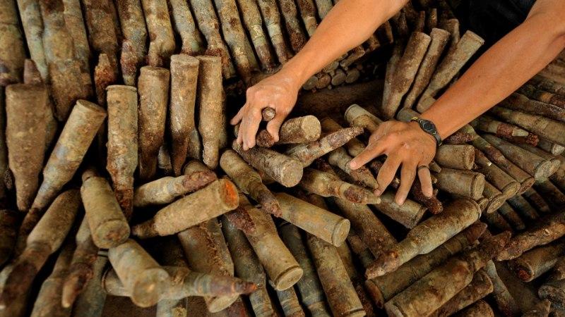 Во время строительства улицы Рейди обнаружили склад боеприпасов времен Второй мировой войны