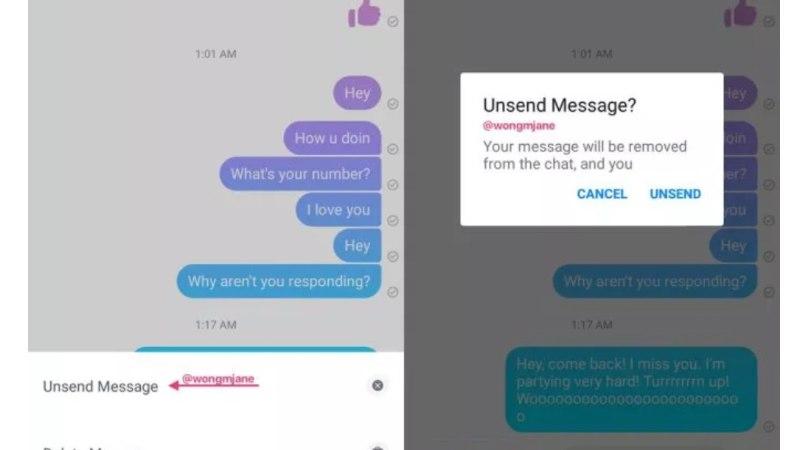 HÜVASTI, PURJUSPÄI TEHTUD ARMUAVALDUSED: tulevikus saab Messengeri sõnumeid tagasi võtta