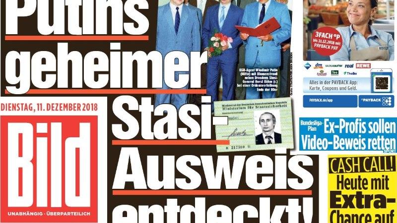 PÕNEV LEID: Saksamaal Dresdenis avastati arhiivis Vladimir Putini salajane töötõend