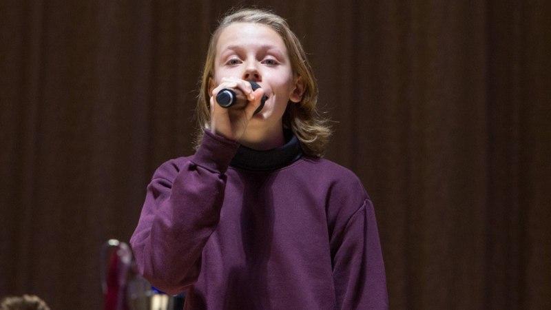 VIDEO | Mart Poomi 14aastane poeg Andreas säras Estonia lavalaudadel