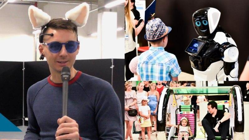 """Видео: youtube-блогер """"Самого лучшего шоу"""" посетил нашумевшую выставку роботов в Tаллинне"""