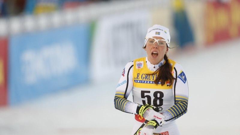 Rootsi suusastaar puhkes Johaugi võidu järel nutma