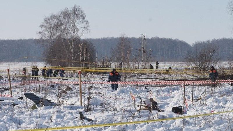 На месте крушения Ан-148 найдено более 1400 фрагментов тел погибших