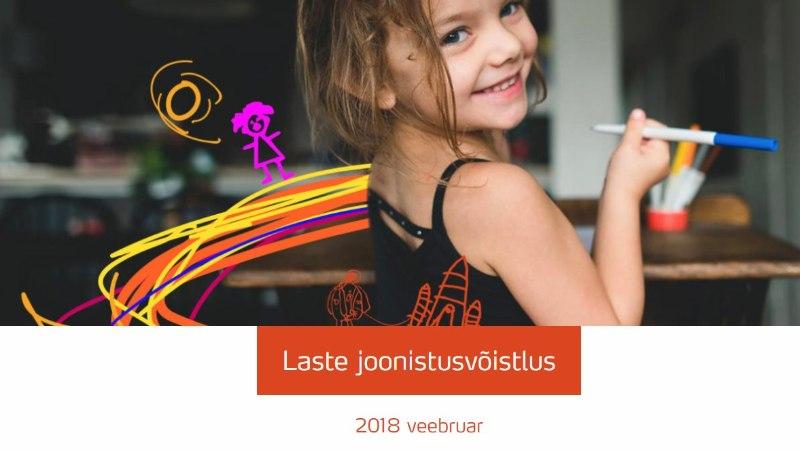 JOONISTUSVÕISTLUS: lapsed kingivad Eestile juubeliks oma postmargi