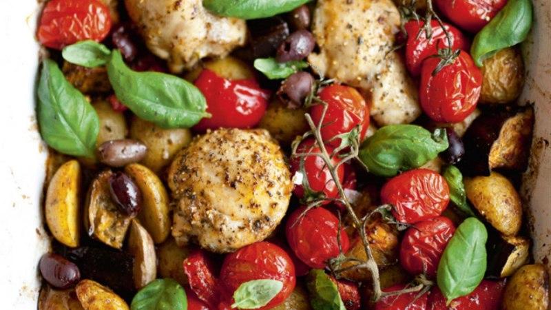 Vahemerehõnguline kana köögiviljadega