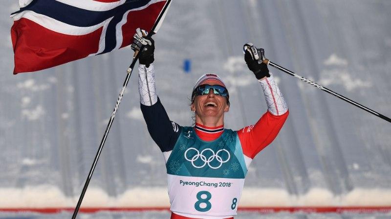 Ülivõimsa soolosõidu teinud Marit Björgen sai kaela karjääri kaheksanda olümpiakulla