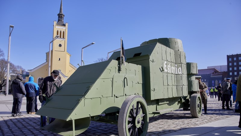 GALERII ja VIDEO | Kaitseliit taastas Eesti esimese soomusauto Estonia