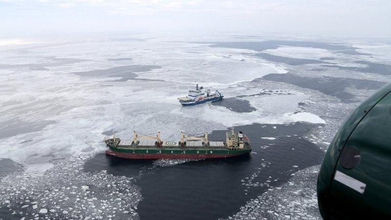 PÄÄSTEOPERATSIOON SOOME LAHEL   Piirivalve läks appi merehädas Panama kaubalaevale