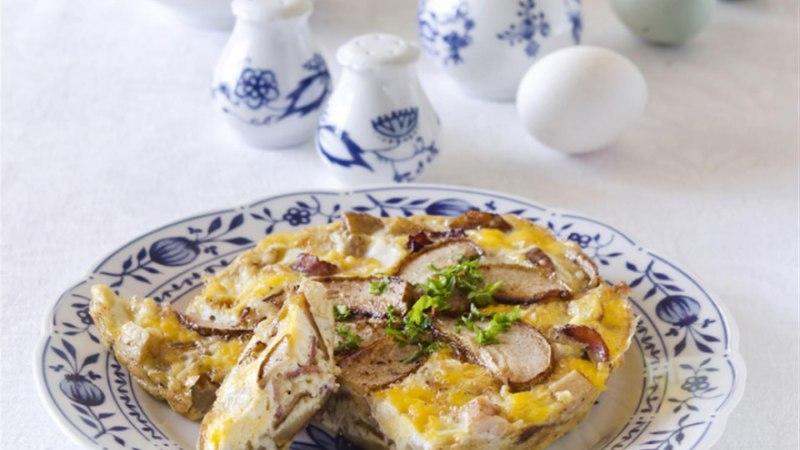 Hanemunast omlett kartuli ja pirniga