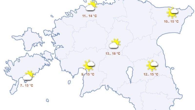 ILMAPROGNOOS: uue nädala algus tuleb kevadiselt soe, kuid vihmahoogudega