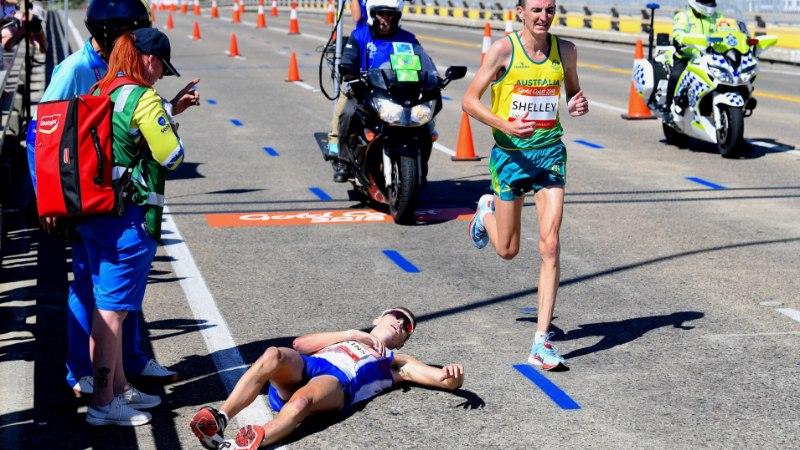 VIDEO | Vägevat kullajooksu teinud šotlane kukkus paar kilomeetrit enne maratoni lõppu kokku ja jäi abitult lebama