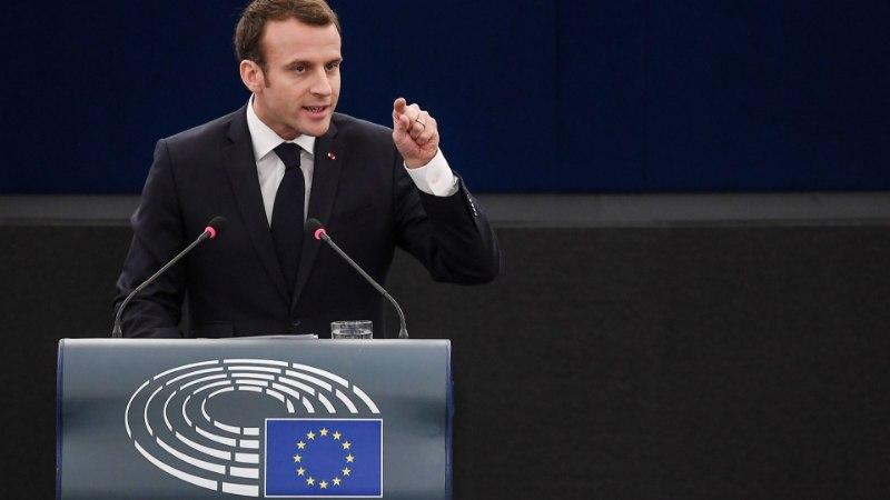 President Macron Euroopale: kaitske demokraatiat!