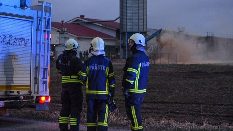 GALERII   Viljandimaal läks põlema saepurupunker