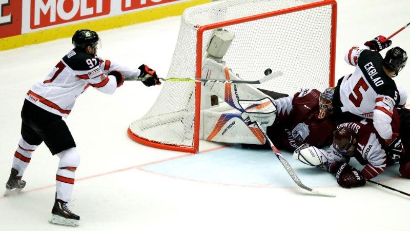JÄÄHOKI MM: Kanadaga lisaajani võidelnud Läti unistus veerandfinaalist elab
