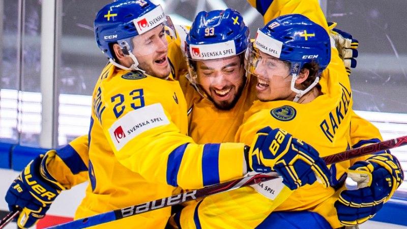 JÄÄHOKI MM: Läti mängis end viimase partiiga veerandfinaali, võimas Rootsi surus ka Venemaa põlvili