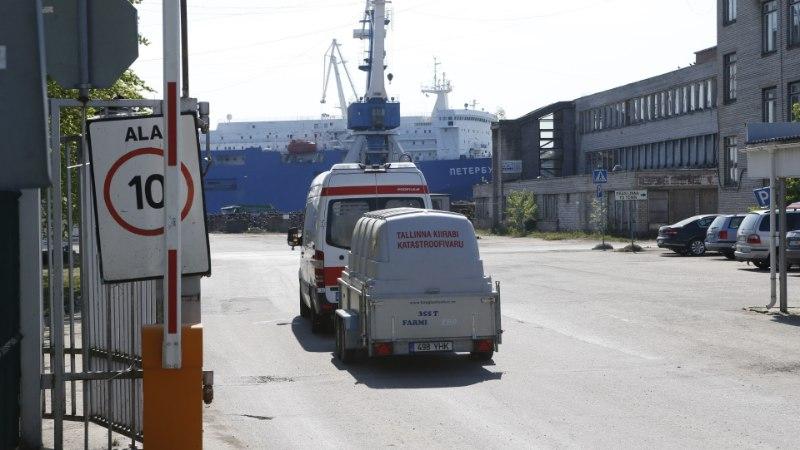ÕL VIDEO JA FOTOD | Paljassaare sadamas on ammoniaagileke, päästjad läksid kohale suurte jõududega