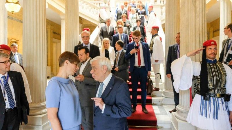 FOTOD  ja VIDEOD | Kaljulaid kohtub Kreekas riigi presidendi ja peaministriga