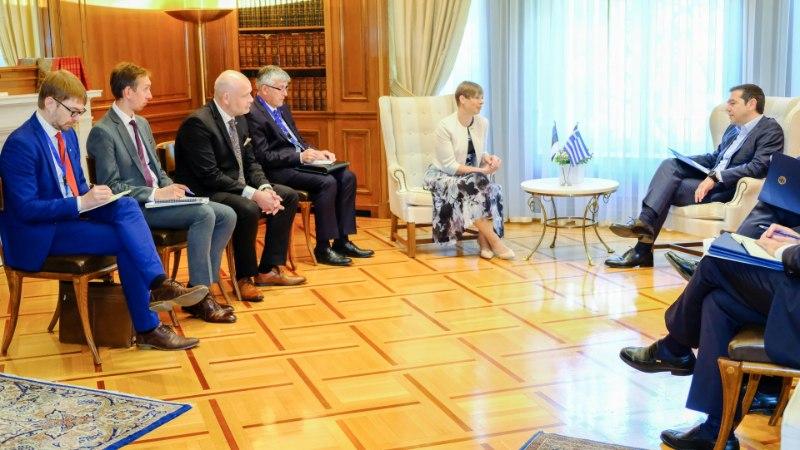 FOTOD   President Kaljulaid kohtus Kreeka peaministri Aléxis Tsíprasega