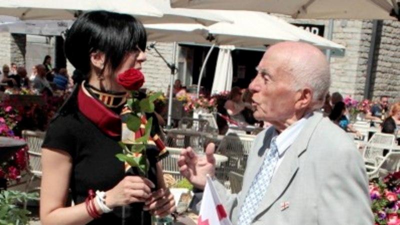 GALERII | Krista Lensin kohtus Tallinnas Gruusia iseseisvuspidustustel enda isaga