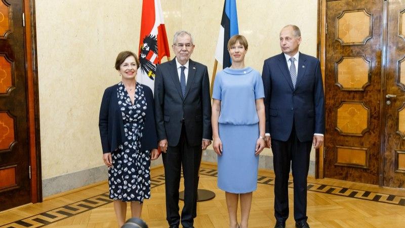 GALERII | Austria president kohtus Kadriorus president Kaljulaidiga