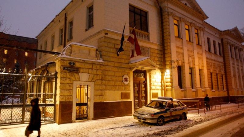 Vandaalid ründasid Läti saatkonda Moskvas