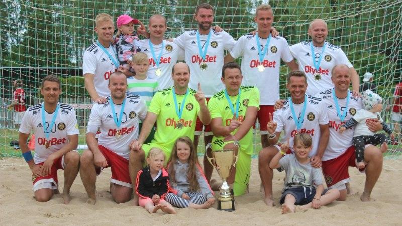 Nõmme BSC OlyBet krooniti rannajalgpalli Eesti karikavõitjaks