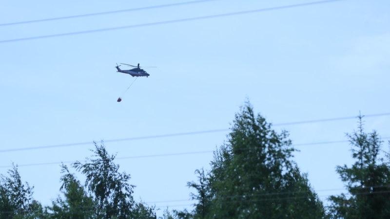 Фото с дрона: пожар в Харьюмаа уже охватил 160 гектаров леса