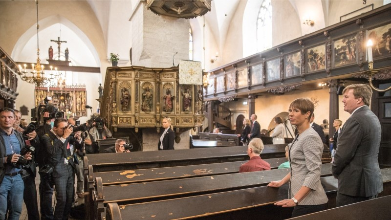 GALERII | Kaljulaid jalutas Madalmaade kuningaga Tallinna vanalinnas