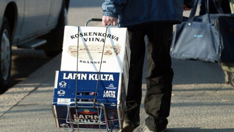 Eestist tuhandeid liitreid õlut toonud soomlane väitis, et jõi kogu alkoholi ise ära