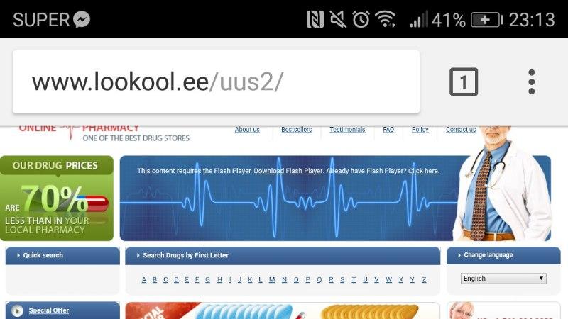 Loo keskkooli koduleht asendus Viagrat pakkuva veebiapteegiga