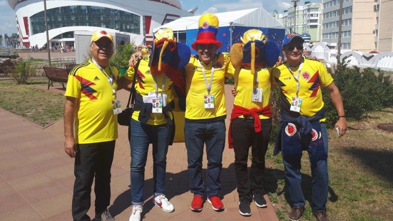 ÕL SARANSKIS | Kolumbia fännid värvivad Tallinnast väiksema linna peagi algava MM-mängu eel kollaseks
