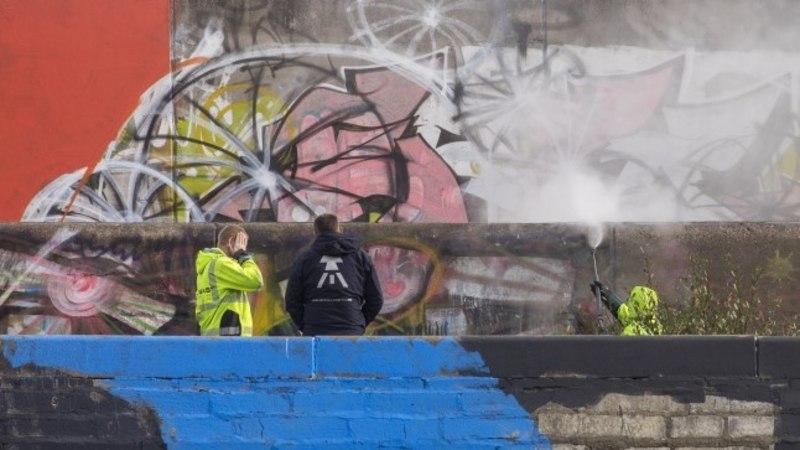 Tallinna linnahall sai grafitist puhtaks