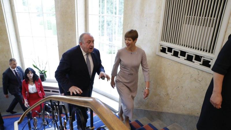 GALERII   President Kaljulaid kohtus Gruusia presidendi Giorgi Margvelašviliga