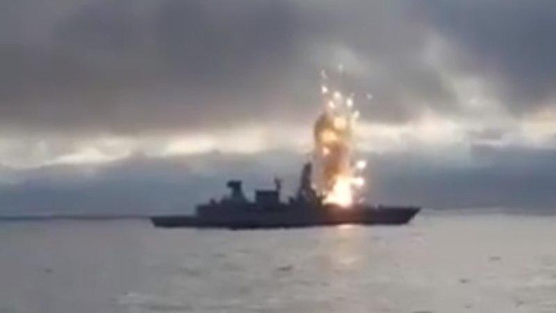 UPS: Saksa sõjalaev sai iseenda raketist kõrvetada