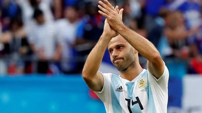 Rekordiline Mascherano Argentina eest enam platsile ei jookse